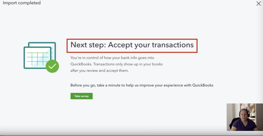 Accept transactions