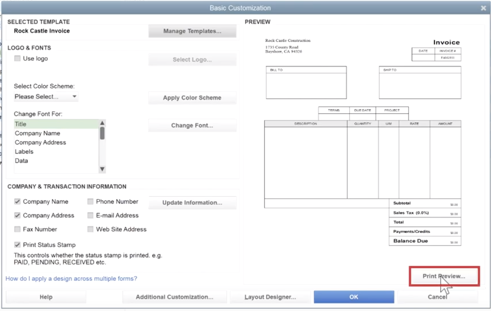 How To Edit An Invoice Template In Quickbooks Gentle Frog Bookkeeping And Custom Training