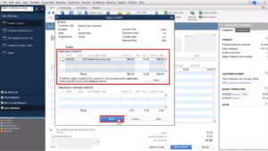 Apply Credits pop-up in Quickbooks Desktop