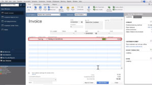 Creating an Invoice in Quickbooks Desktop