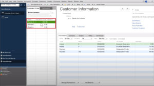 Customer Information showing customer has a negative balance in Quickbooks Desktop