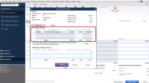 Discounts and Credits pop-up in Quickbooks Desktop