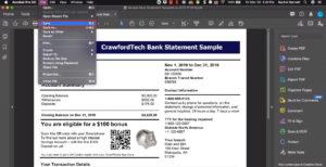 Saving an editing PDF in Acrobat Pro DC