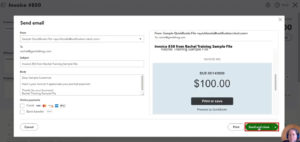 Send and close an invoice in QuickBooks Online