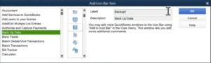Customizing items in the Icon Bar in QuickBooks Desktop Premier 2020