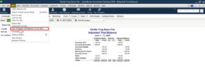 Adding a custom report to the icon bar in QuickBooks Desktop