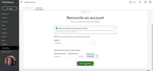 Start reconciling your QuickBooks accounts