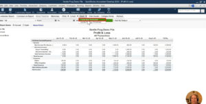 Exporting the Profit & Loss report as an Excel worksheet in QuickBooks Desktop
