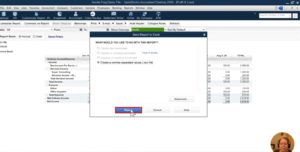 Downloading the Profit & Loss report as an Excel file in QuickBooks Desktop