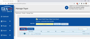 Add payer in Tax1099 from the Manage Payer screen.