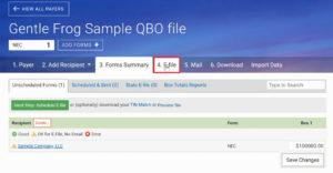 Track1099 E-File tab