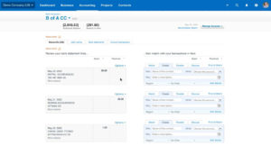 Reconciling a bank account in Xero