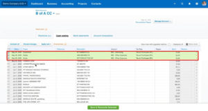 Checking off editing transactions on the Cash Coding screen in Xero
